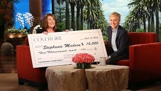 Ellen revealed the winner of the CoverGirl contest, but when she he...