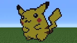 Minecraft Tutorial: How To Make Pikachu