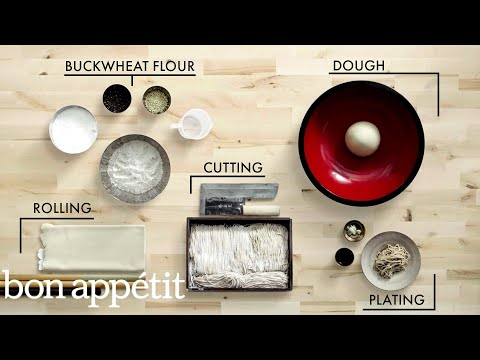 How to Make Handmade Soba Noodles | Handcrafted | Bon Appétit
