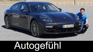 Porsche Panamera FULL REVIEW Hybrid Executive test driven 2017/2018 new neu - Autogefühl(Panamera Racetrack & Tech feature: https://youtu.be/dmnxVIRy7lY Panamera 4S review: https://youtu.be/g8UAYAIsswI ▻Subscribe and/or bookmark our direct ..., 2017-01-31T14:30:31.000Z)