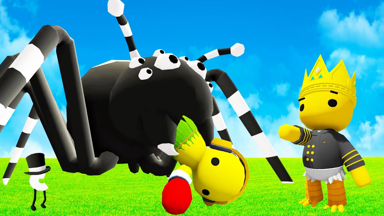 We Almost Got Eaten by a Giant Spider in Wobbly Life Multiplayer Update!