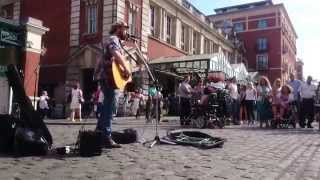U2, Still haven't found what i'm looking for, by Rob Falsini - Busking in the streets of London, UK
