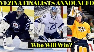 NHL Vezina Trophy Finalists Announced - NHL Awards 2018