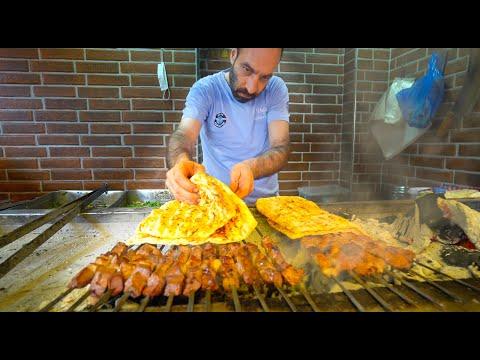 TURKISH STREET FOOD - Adana Kebab + Crazy Şırdan! AMAZING Street Food in Adana, Turkey!!