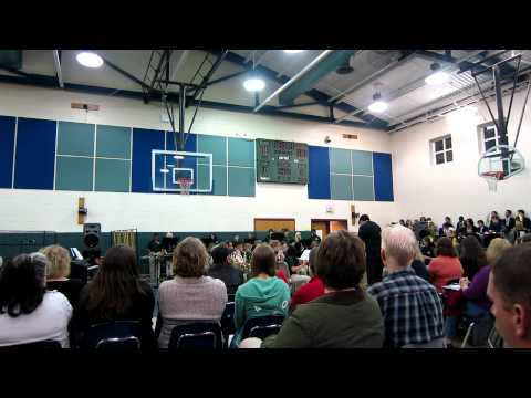 Louisa County Middle School band 2-12-13