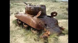 Biville France - Range Wreck Shermans