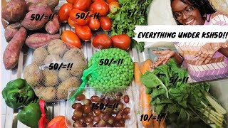 WHERE TO GET GROCERIES AT AFFORDABLE PRICES IN NAIROBI; Marikiti and Muthurwa grocery haul shooketh!