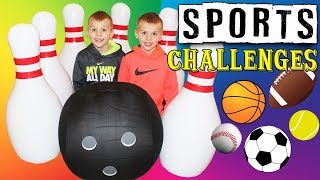 Giant Size Kid Olympics || Twin Sports Challenges!!