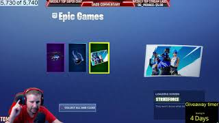 FORTNITE FREE GIFTS COAXIAL BLUE GLIDER BLUE FUSION STRIKE FORCE LOADING SCREEN