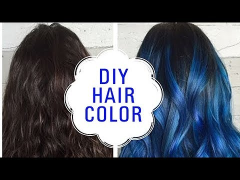How To Color Your Hair - DIY Blue Hair #Shemaroolifestyle