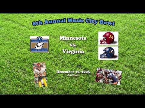2005 Music City Bowl (Minnesota v Virginia) One Hour