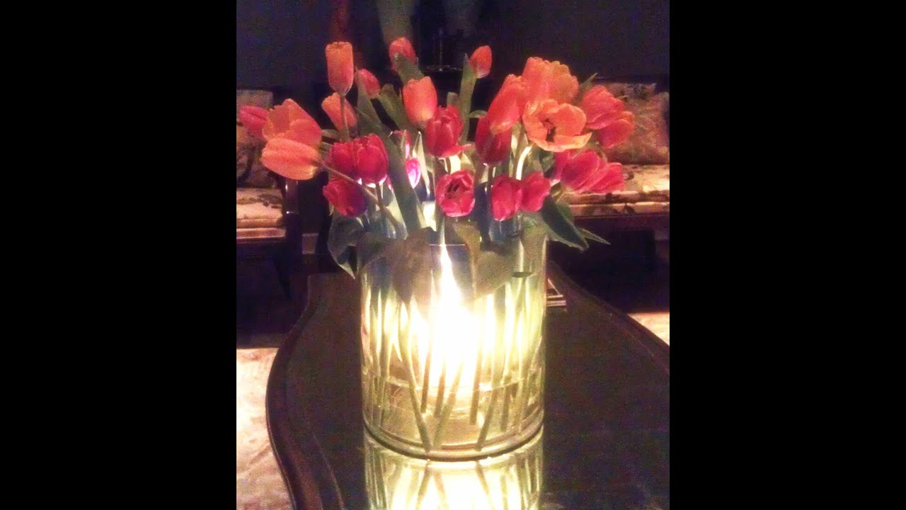 Diy glowing spring centerpiece for under 25 youtube izmirmasajfo Image collections