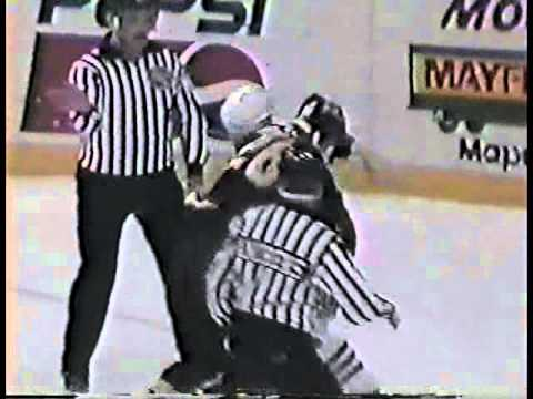Shawn Antoski vs Joby Messier AHL Dec 11/92