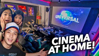 OUR HOME CINEMA ROOM TOUR! (Ang Ganda!) | Ranz and Niana
