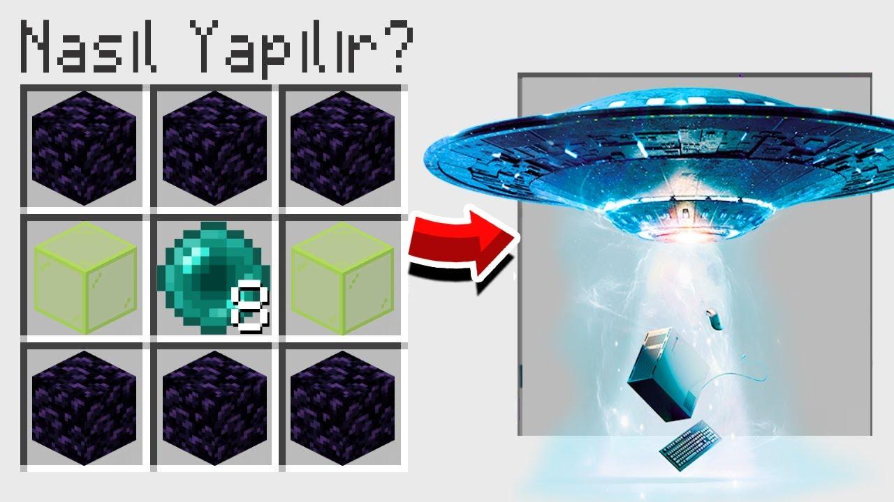 FAKİR UFO YAPTI - Minecraft