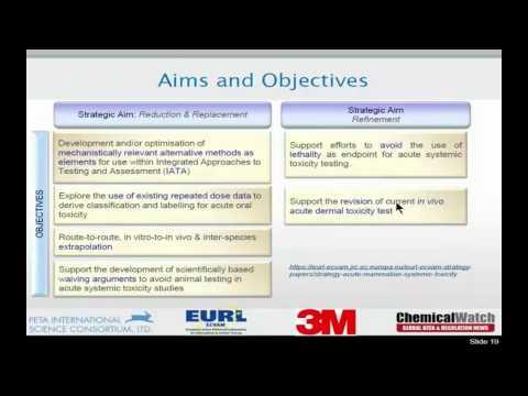 Webinar Video 5 Mammalian Acute Toxicity Testing