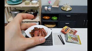 Mini Food Jjapaguri with Steak(Ram-Don from Parasite) chapaguri 짜파구리 미니어처 요리 | MiniCook Bap