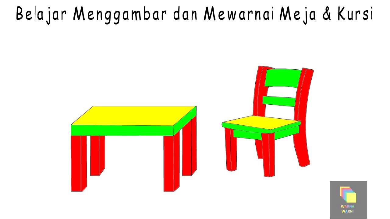Belajar Cara Menggambar Kursi Dan Meja