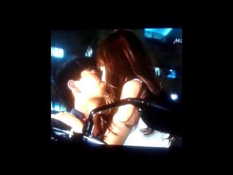 Romantic Scene in a Singapore  Drama.