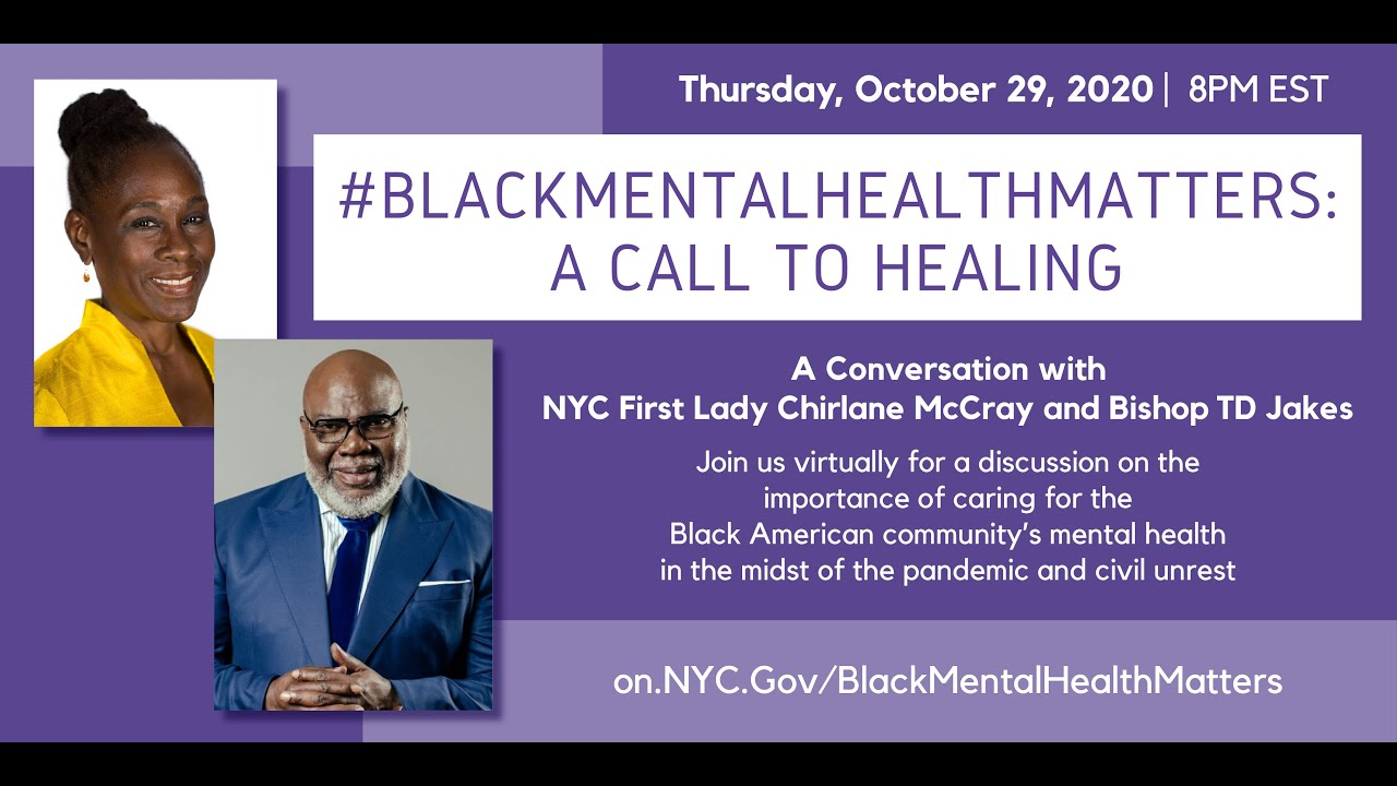 WATCH: T. D. Jakes Discusses Mental Health Amid Coronavirus Pandemic and Racial Unrest in Virtual Conversation With Chirlane McCray