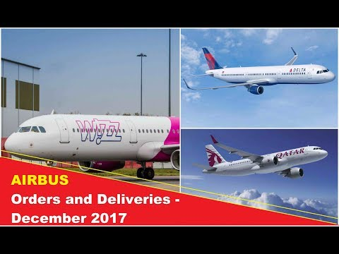 AIRBUS- Orders and Deliveries in December 2017