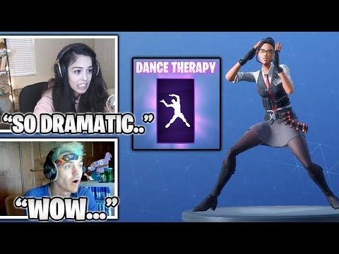 STREAMERS Reacts To Insanely Dramatic 'Dance TheRapy' Emote... (Fortnite Moments)