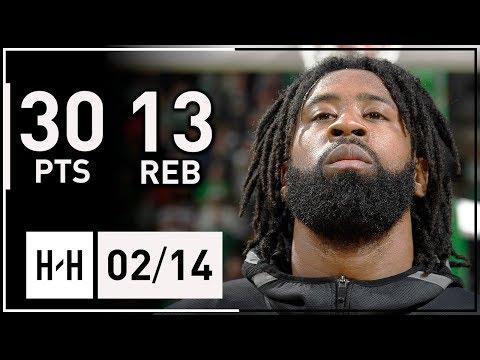 DeAndre Jordan Career-HIGH Full Highlights Clippers vs Celtics (2018.02.14) - 30 Points, 13 Reb!