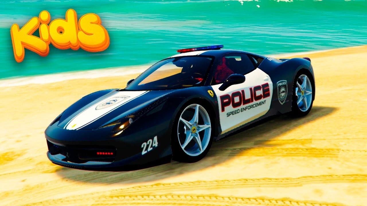 Police CARS Ferrari Spiderman Funny Cartoon Nursery Rhymes for Childrens