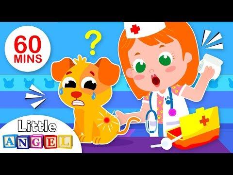 Ba Goes to the Vet  5 Little Puppies Peekaboo  Nursery Rhymes & Kids Songs  Little Angel