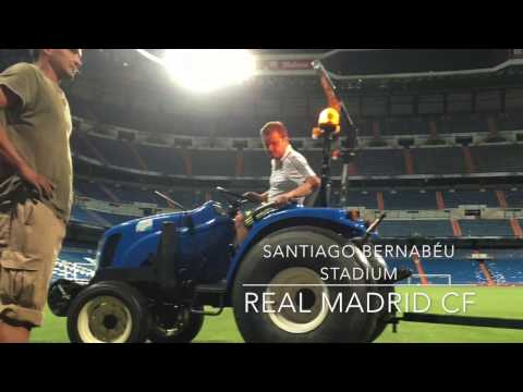 Mixto installation at Amsterdam Arena and Santiago Bernabéu + AC Milan testimonial