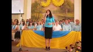 """На праздновании 90 летия церкви """"ВИФЛИЕМ"""" в 2012 году. Дунаевцы."""