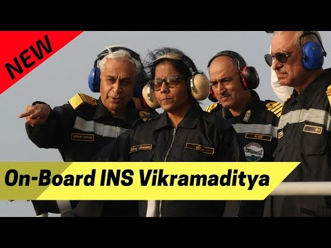 Defence Minister Nirmala Sitharaman On-Board INS Vikramaditya : Reviews Naval Prowess