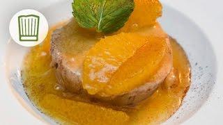 Lebkuchenparfait mit Gewürzorangen #chefkoch