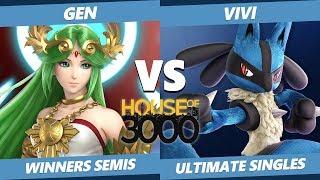 Xeno 204 Winners Semis - Gen (Palutena) Vs. Vivi (Lucario) Smash Ultimate - SSBU