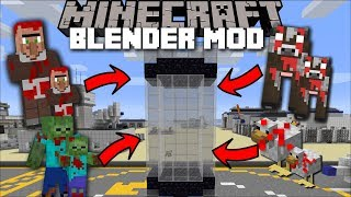 Minecraft WILL IT BLEND MOD / BLENDING UP FARM ANIMALS FOR FRESH FOOD!! Minecraft