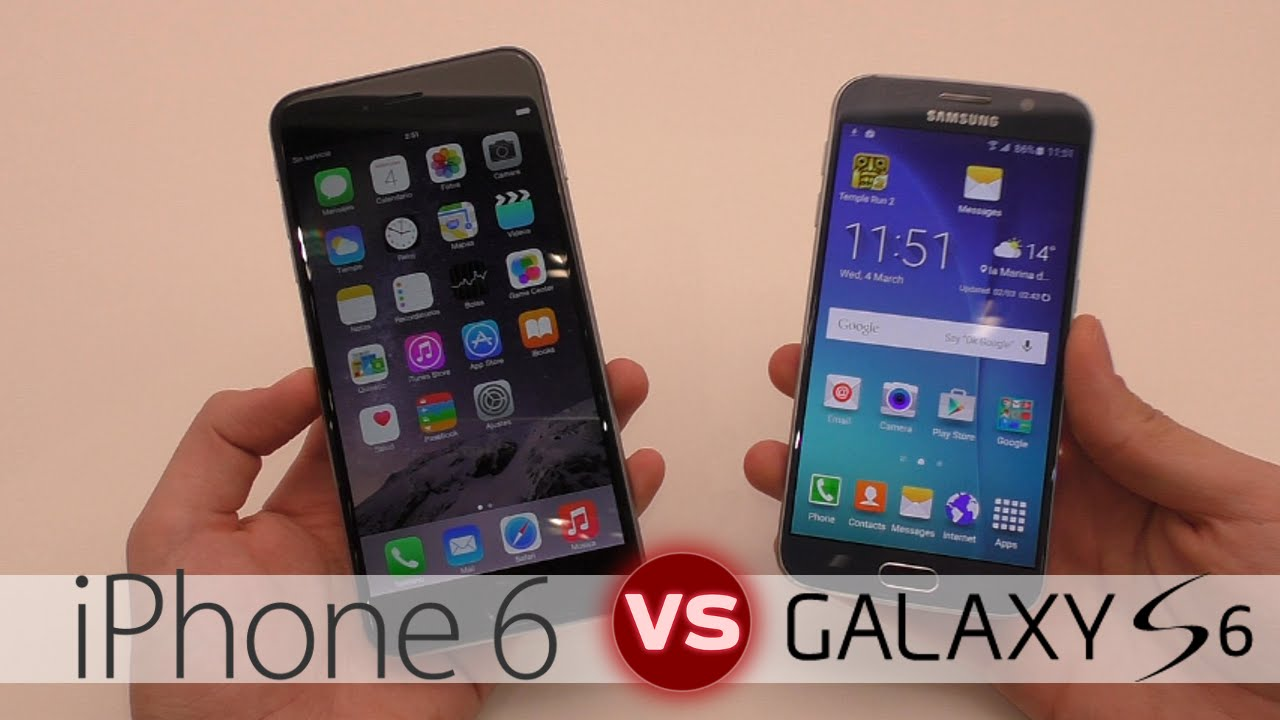 s6 vs iphone 6s cual es mejor