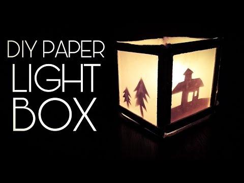 How to make a paper light box (DIY)