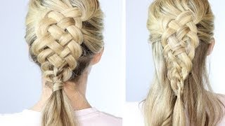 5 Strand Dutch Braid On Yourself