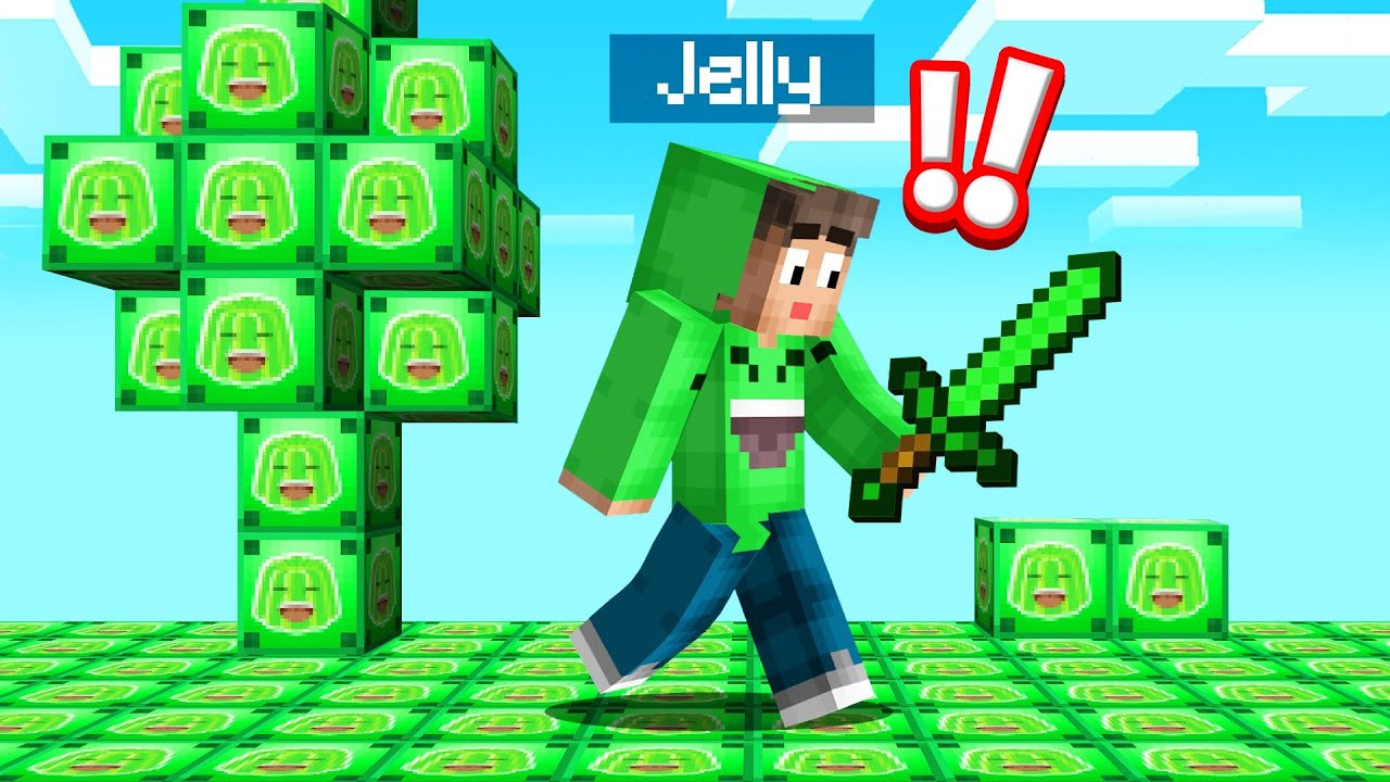 Playing MINECRAFT In A JELLY LUCKY BLOCK WORLD! (Amazing)