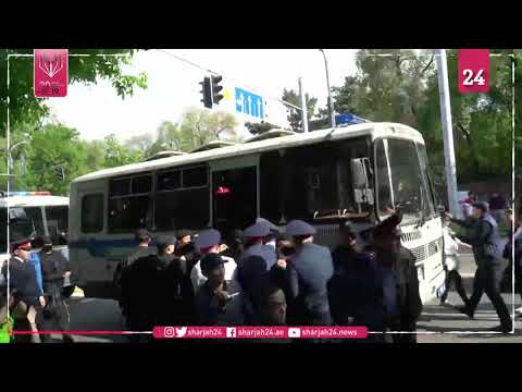Dozens arrested in Kazakhstan pre vote protest