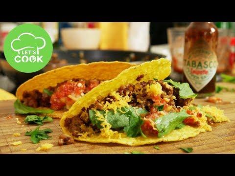 Tacos selber machen   Rezept mit Hackfleisch