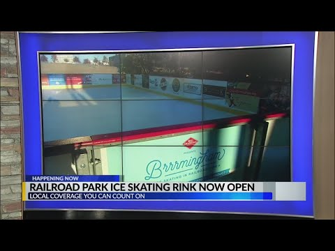 Railroad park ice skating rink now open