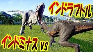 インドラプトル vs インドミナスレックス!! 最凶遺伝子の頂上決戦がアツい!! ジュラシックワールドエボリューション - Jurassic World Evolution 実況プレイ #28 thumbnail