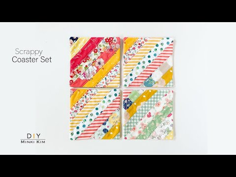 How to use leftover scraps / Simple Coaster set / DIY /차받침만들기 / 티매트 / Simple Sewing Project/ Scrappy