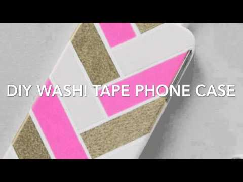 DIY Pinterest Washi Tape IPhone Phone Case! Super Cute and Easy!