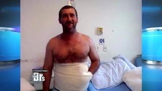 Doc Sews Man's Hand into His Stomach!