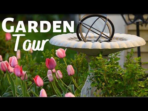 🌷🌿 Serene SPRING GARDEN TOUR around my Flower Beds – Zone 5 Gardening