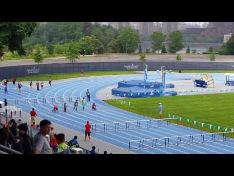 11-12 Novas boys 100m hurdles, Icahn Stadium