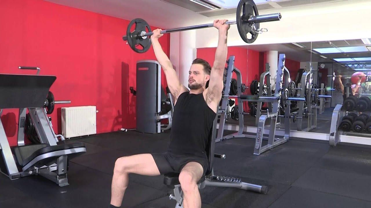 Exercice de musculation épaules - Développé militaire ...