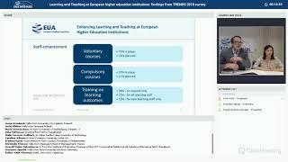EUA webinar: Learning and Teaching at European higher education: findings from TRENDS 2018